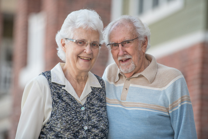 Image of senior couple outdoors