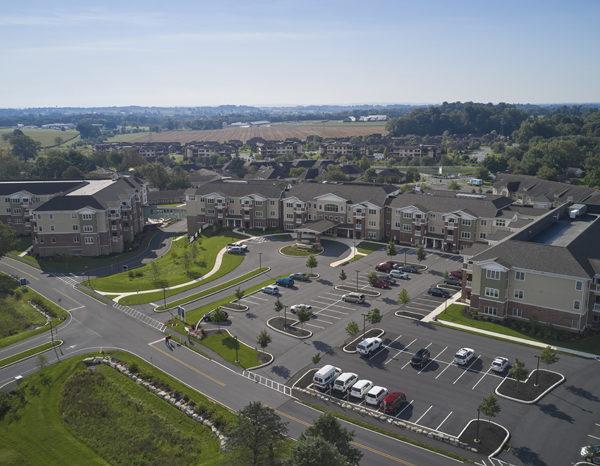 Landis Homes drone view