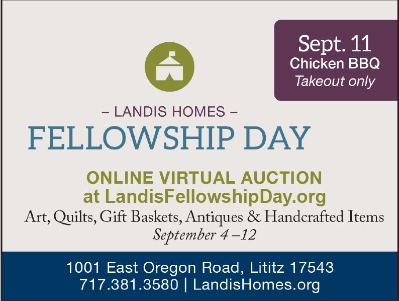 Landis Homes Fellowship Day invite