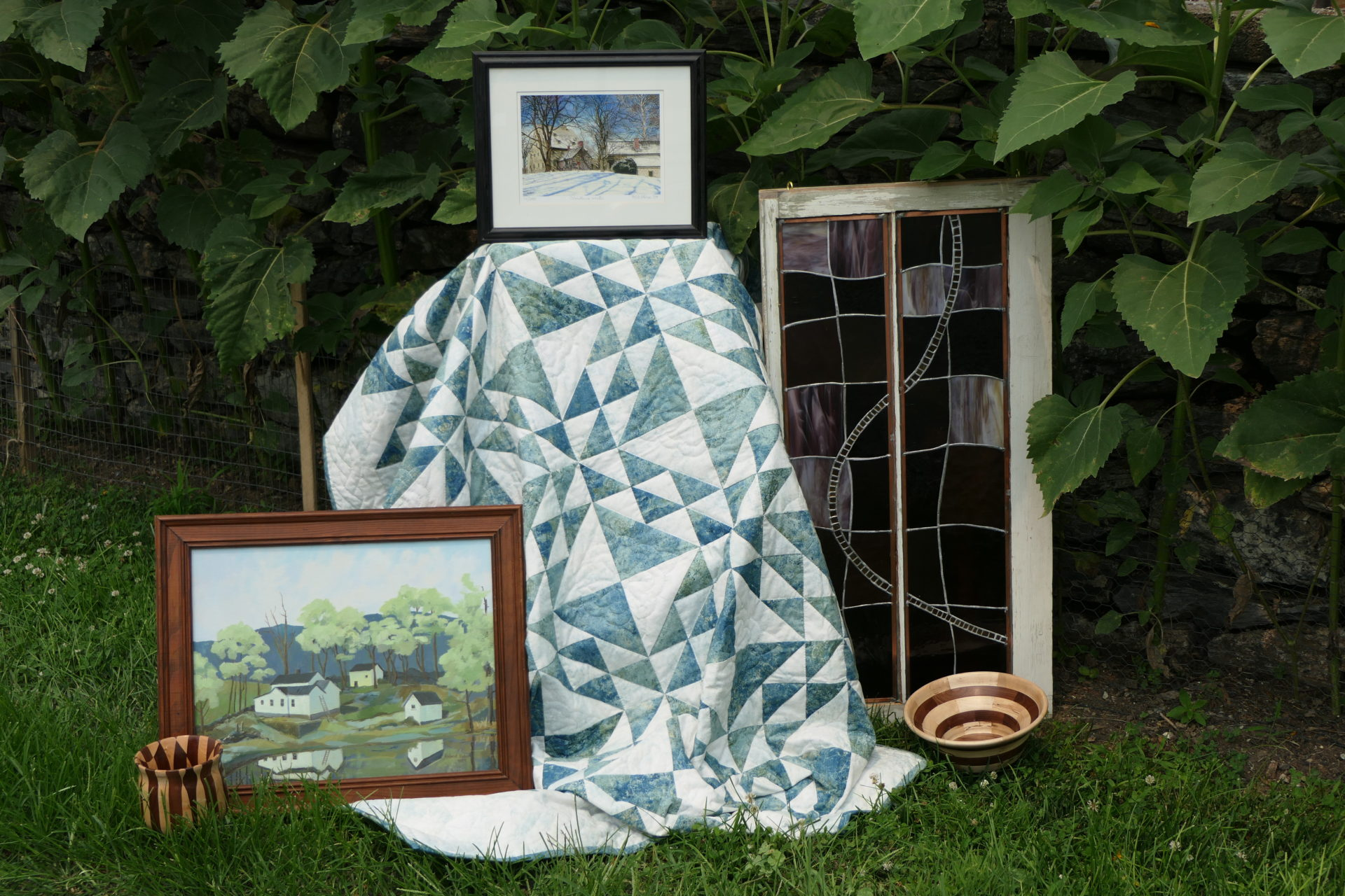 Quilt and artwork